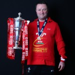 Dr Geoff Davies with the RBS Six Nations Trophy 2013
